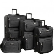 Amsterdam 4-Piece Softshell Deluxe Expandable Rolling Luggage Set