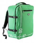 Green hand luggage backpack