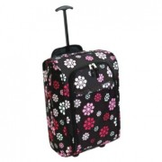 Hand luggage with flowers