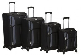 Rockland Luggage Impact Spinner 4 Piece Luggage Set