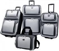 US Traveler New Yorker 4 Piece Luggage Set Expandable