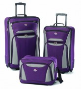 Purple American Tourister Luggage